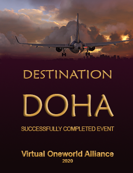 Awarded to pilots completing Destination Doha event