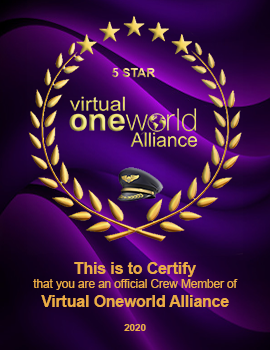 Official Member of Virtual Oneworld Alliance
